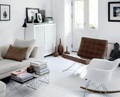 The Barcelona chair adds more sitting space and aesthetic wonder. http://www.manhattanhomedesign.com/exposition-chair.html?utm_content=bufferc1bdb&utm_medium=social&utm_source=pinterest.com&utm_campaign=buffer #barcelonachair #interiordesigns #midcentury #homedecor #livingroom