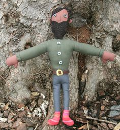 "Perfect for lonely folk of all ages, each Handsome Man Doll is about 21"", very snuggly, and an even better listener. Handmade by Mallory D'Alessandro"