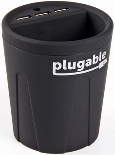Plugable Power 2015 USB 3-Port 36W Smart Charger Cup for Cars and Trucks (Fits in Most Cup Holders), Charges Multiple Android, Apple iOS, and Windows Devices - Universal Support for Apple iPhone (6, 6+, 5s, 5c, 5, 4s, 4), iPad (Air, Mini, Retina), iPod, Samsung Galaxy S Tab Note, Google Nexus, Motorola (G, X, Droid), HTC, Nokia, Dell Venue 8 Pro, and more. #plugable #plugabletechnologies