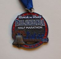 Rock 'n' Roll Philadelphia half marathon medal 2012
