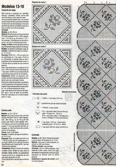 REGINA RECEITAS DE CROCHE E AFINS: cortina e colcha rosinhas.