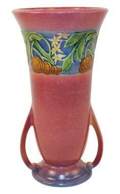 Roseville Pottery Baneda Pink Vase 598-12