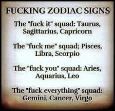 Yep. I'm a Leo..... f you squad where are you at?!