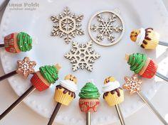 Вкусные ложки. полимерная глина, новый год, рождество,polymerclay,spoon, christmas