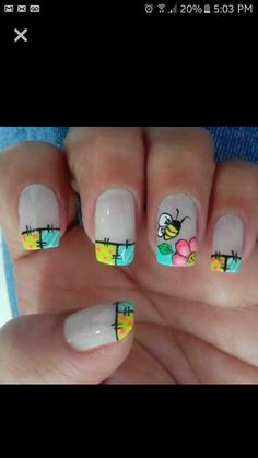 Crazy Nail Art, Crazy Nails, Pedicure Designs, Nail Art Designs, Nail Art Diy, Diy Nails, Spring Nails, Summer Nails, Seasonal Nails