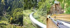 Europes largest tube slide - 186m at a 50 degree gradient!! 20 seconds of fun!!!
