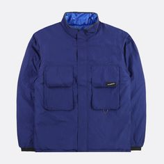 NANAMICA REVERSIBLE INSULATION JACKET NAVY SUAF979 N Nylons, Branding, Insulation, Nike Jacket, Raincoat, Winter Jackets, Athletic, Navy, How To Wear