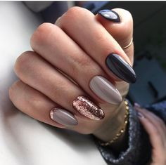 Trendy Manicure Ideas In Fall Nail Colors;Purple Nails; Fall Nai… Trendy Manicure Ideas In Fall Nail Colors;Purple Nails; Gorgeous Nails, Love Nails, How To Do Nails, My Nails, Best Nails, Simple Fall Nails, Cute Nails For Fall, Amazing Nails, Nails Inc
