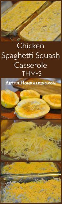 Artful Homemaking: Trim Healthy Mama Chicken Spaghetti Squash Casserole (S)