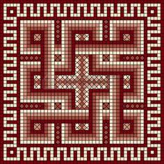 mäander: Mosaik mit klassischen griechischen Mäander-Ornament Illustration
