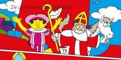 Stoomboot : Gele Piet, Sinterklaas en Paard
