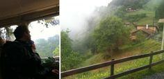 Wengen to Lauterbrunnen by train