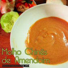 Molho Chinês de Amendoim #receita #dieta #regime #emagrecer