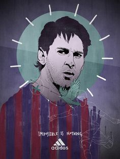 Messi by artist and illustrator Tobias Hall