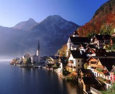 The storybook village of Hallstatt, Austria.
