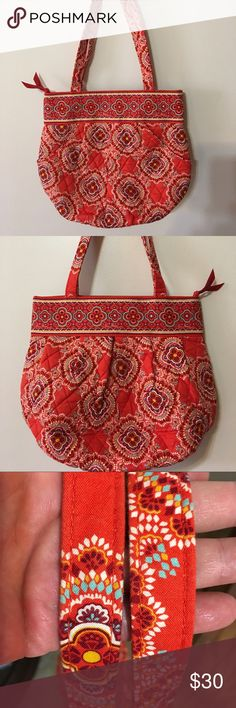 Vera Bradley Morgan Excellent condition Paprika Morgan.  Strap drop 9 1/2 inches. 2 front angled pockets. Recessed zipper.  Inner zippered pocket and 3 slip pockets. No smoking or pets Vera Bradley Bags Shoulder Bags