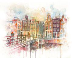 Watercolor + some minor digital adjustments. Illustration by Guillem Marí