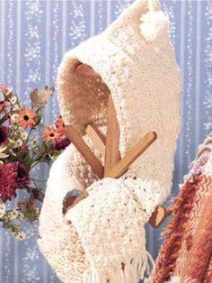 Free Crochet Hooded Scarf Pattern.