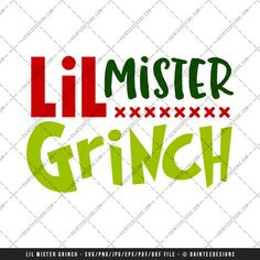 "Featured here is our scalable vector graphic (SVG) file, ""Little Mister Grinch"". This is a digital file only and is perfect for any vinyl cutter. This is an instant download and available upon purchase. You will receive a zip folder that will need to be unzipped. Full details can be found below."