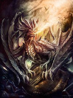 Mighty Dragons — cherrerailustraciones:   The forbidden treasure by...