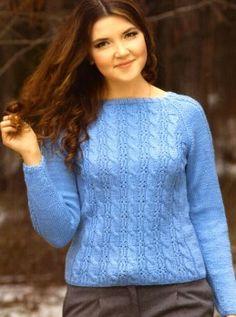Пуловер с косами Размер: 42/44. http://vyazaniye.com/item/pulover-s-kosami-2.html