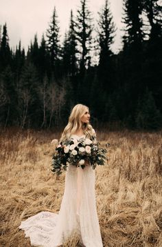 modest wedding dress with long sleeves from alta moda. --(modest bridal gowns)---