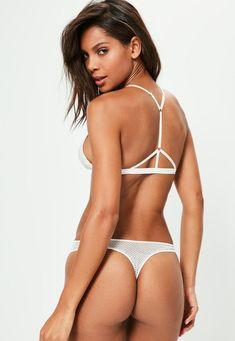 Missguided -White Lace Mix G-String -  14.00 Underwear Online 2933325cc