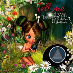 Tell me, Magic Eight Ball ~ Blingee by stina scott ~ Cookie Doll Fairy