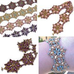Twin Peaks Bracelet and Earrings, Sova Enterprises Beading Patterns Free, Beaded Bracelet Patterns, Bead Patterns, Jewelry Patterns, Beaded Jewelry, Beaded Bracelets, Bead Embroidery Patterns, Beaded Embroidery, Jewelry Ideas