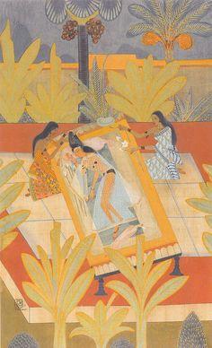 """Radha's Vihara"" by Nandalal Bose (1883-1966), National Gallery of Modern Art, New Delhi (via indiapicks)."