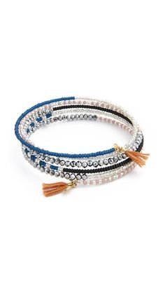 Shashi Jane Wrap Bracelet love the memory wire to look like stacked bracelets