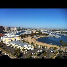 View of the Marina from the Marina del Rey Marriott