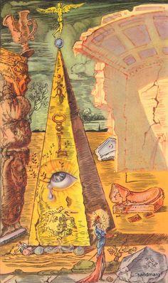 Illustration de 1945 Salvador Dali le œil de la Providence