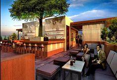 outdoor bar/ lounge area