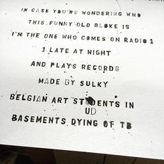 """Today's #studio #work in progress. #ink #lettering #illustration #pen #penandink #arts #art #music #radio #dj #johnpeel #collaboration #musicians #newmusic #illustrator  #design #graphicdesign #paper #handdrawn #drawing #creative #grafitti #creativity #london"" Photo taken by @ben_tallon on Instagram, pinned via the InstaPin iOS App! http://www.instapinapp.com (09/04/2015)"