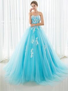 AdoreWe - DressWe Ball Gown Sweetheart Sleeveless Applique Lace-Up Back Quinceanera Dress - AdoreWe.com