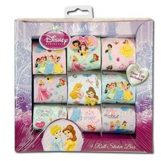 Black Friday 2014 Disney Princess 9 Roll Sticker Box Over 150 Stickers from Princess Cyber Monday