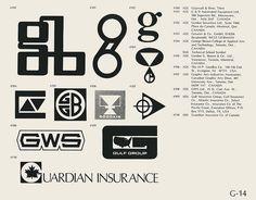 Eric Carl Collection of vintage logos from a edition of the book World of Logotypes jpg Logos Mg Logo, Typo Logo, Logo Sign, Logo Branding, Branding Design, Logos Vintage, Retro Logos, Trademark Symbol, Brand Symbols