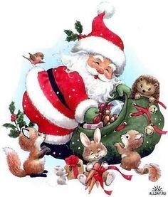 noel ruth morehead - Page 8 Christmas Scenes, Noel Christmas, Christmas Clipart, Father Christmas, Vintage Christmas Cards, Christmas Printables, Christmas Pictures, Winter Christmas, Christmas Crafts