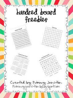 Primary Junction: Skip Counting Using A Hundred Board (includes freebies)