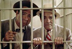 "Walter Matthau y Jack Lemmon en ""Primera Plana"", 1974"