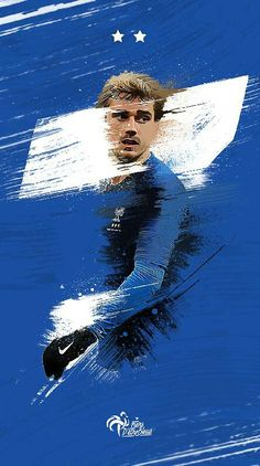 Antoine Griezmann, Football Images, Football Art, Best Football Players, Soccer Players, France Team, Football Workouts, Soccer Art, Sports Graphic Design
