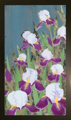 Iris Collage Painting by Jenny Goring White Background Iris, My Arts, Collage, Art Prints, Painting, Inspiration, Design, Art Impressions, Biblical Inspiration