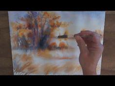 """Démo aquarelle """"Sérénité d'automne"""" (watercolor tutorial) - YouTube"""