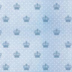 Flok Coroa Azul Tecido Adesivo (3 m) :: Decore com Papel - Papéis de Parede