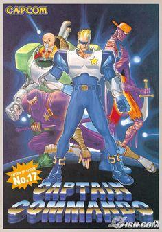 Captain Commando (Es un imagen de un póster, puedes comprar el juego para SNES en el pin de al lado)