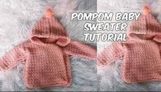 [Free Pattern] Adorable Pompom Baby Sweater - Knit And Crochet Daily