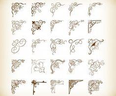 Decorative Corners Vector Illustration Set