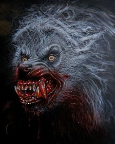 wolf hunting in the north Creepy Horror, Creepy Clown, Arte Horror, Horror Art, Horror Icons, Scary Movies, Horror Movies, Fantasy Creatures, Mythical Creatures