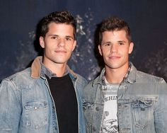 Max Carver (L) and Charlie Carver attend MTV's 'Teen Wolf' Fan Appreciation Event at Burbank Airport Marriott on November 23, 2013 in Burbank, California.